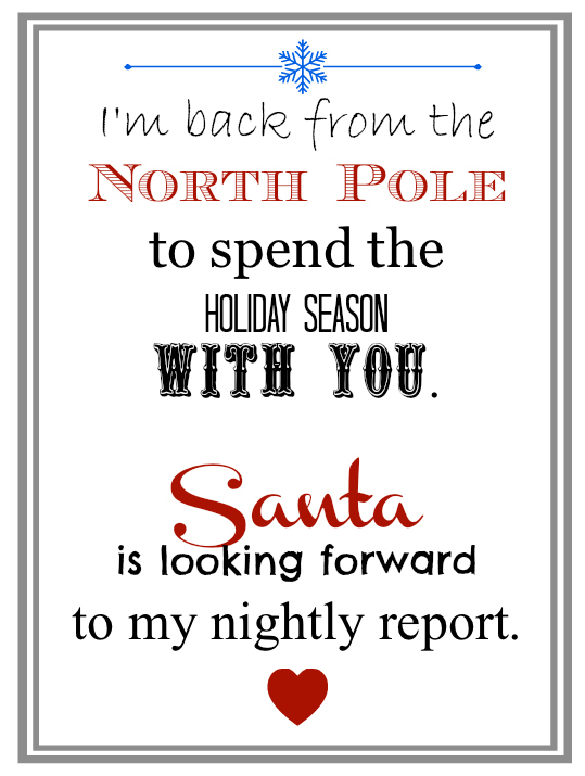 image relating to Elf on the Shelf Printable Letter named Elf upon the Shelf Recommendations for Introduction: 10 Totally free Printables