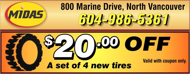 New Tires 20 00 Off At Midas Auto Repair Coupons West