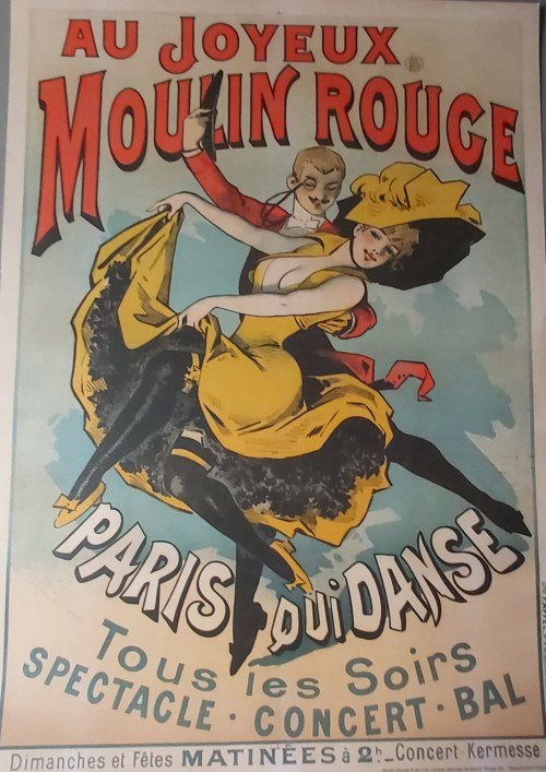 "Brocante - narbonne - affiche officielle du Moulin Rouge ""Paris qui danse"""