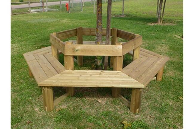 banc tour d arbre en bois banc
