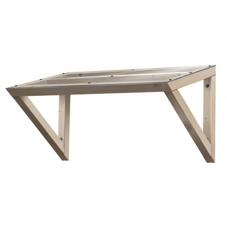 auvent de porte 4d auvent bois et polycarbonate