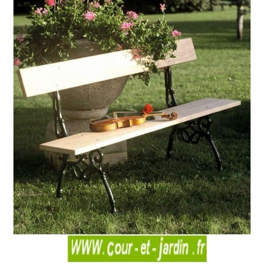 banc de jardin fonte et bois provence banc fonte