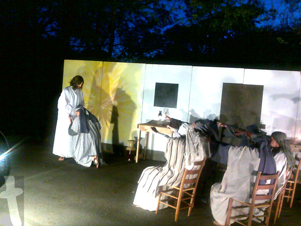 Jesus is Alive, a picture from New Market Baptist Church, Trail to Empty Tomb Drive-Thru Easter Drama.