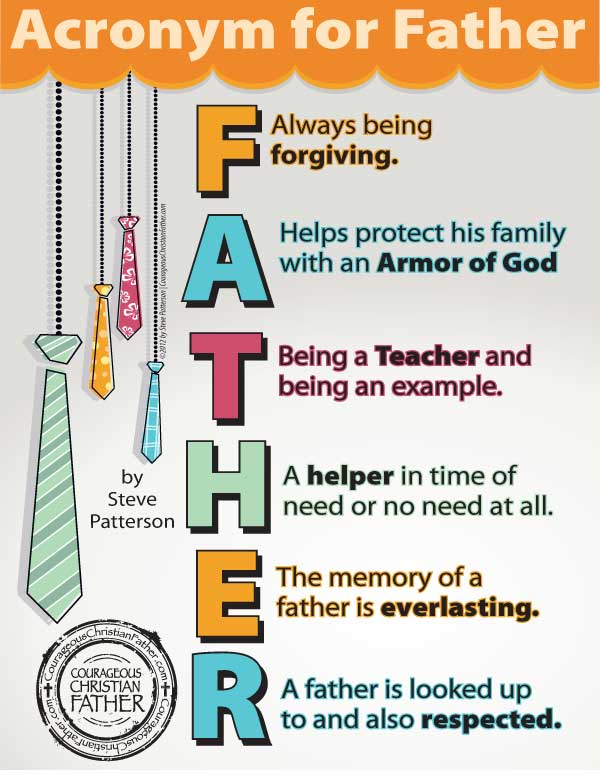 Acronym for Father graphic - click to download pdf version.