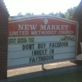 Don't Buy Facebook Invest in Faithbook - New Market United Methodist Church