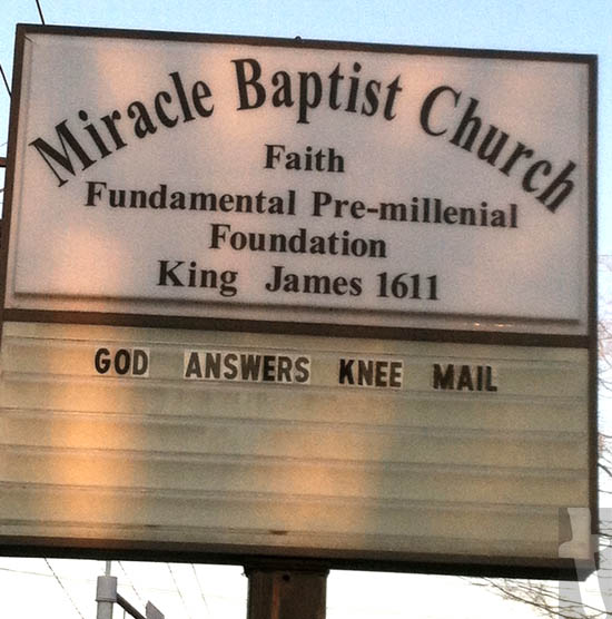 God Answers Knee Mail - Miracle Baptist Church