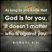 God never leaves us