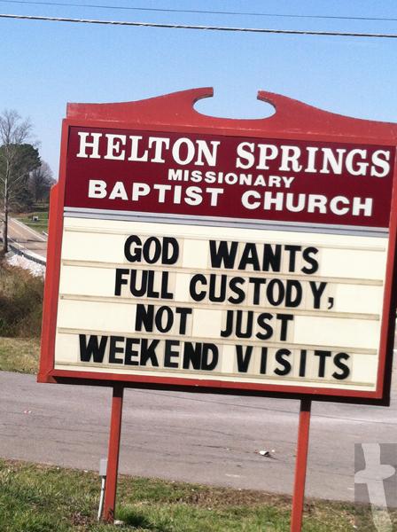 Helton Springs - God wants full custody, not just weekend visits