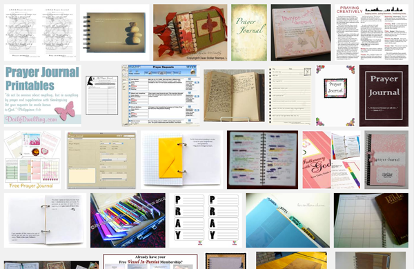Screen shot of image search on Prayer Journals.