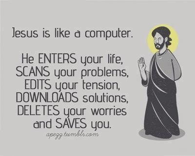 Jesus is like a Computer  image by Apezz