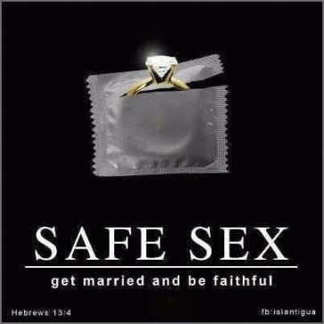 Safe Sex Be Married and Faithful Image