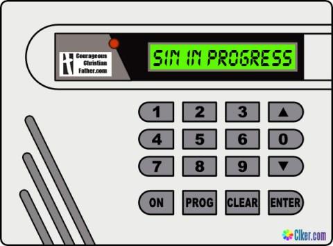 Alarm Panel - Sin in Progress
