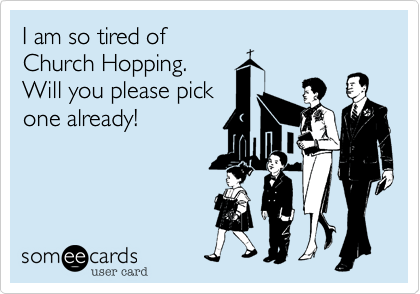 Church Hopping comic from someecards