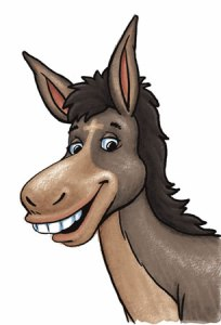 Donkey Clipart by vector-clip-art.com