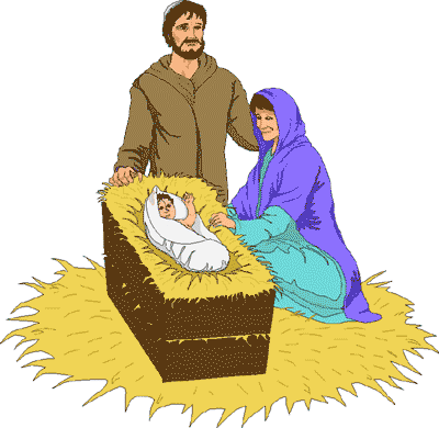 Nativity Scene Clipart by Clipart Pal - The Christmas Story