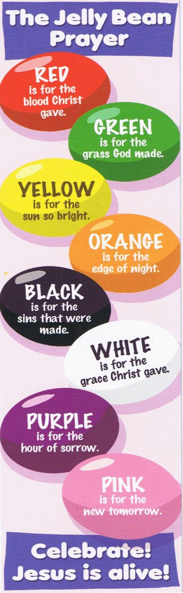 Jelly Bean Prayer - Jelly Bean Gospel - Easter Colors