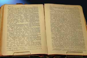 Titanic Bible - Picture compliments of Titanic Museum