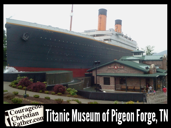 Titanic Museum of Pigeon Forge, TN. Picture taken on a sprinkling day, May 10, 2014.