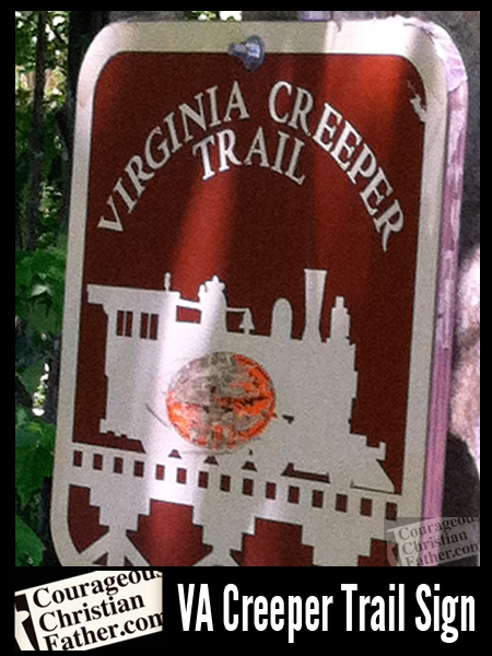 Virginia Creeper Trail Sign