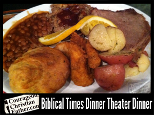 Bliblical Times Dinner Theater - Dinner