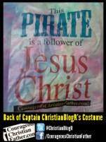 Back of Captain ChristianBlogR's Costume