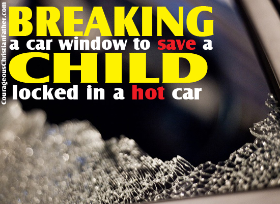 Breaking Window Hot Car