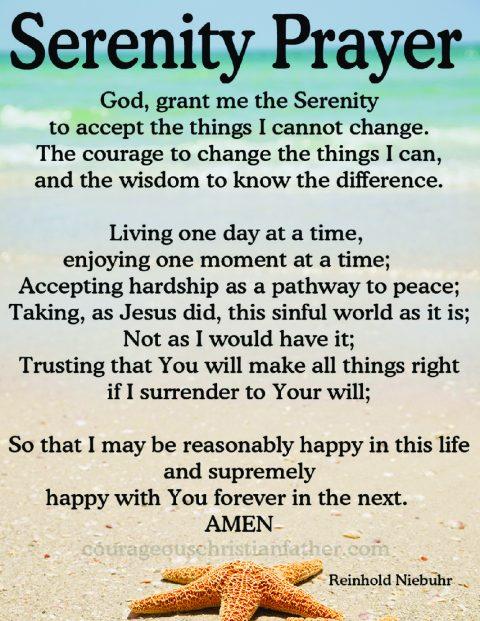 Serenity Prayer Printable
