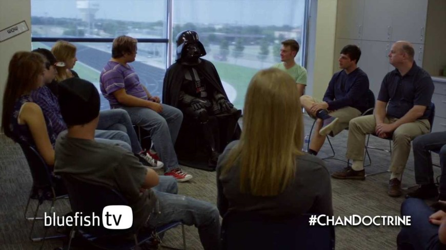 What if Darth Vader Joined Your Small Group? Have you ever wondered what it would be like if Darth Vader was in your Sunday School class or small group? Now you can find out! #DarthVader #StarWars