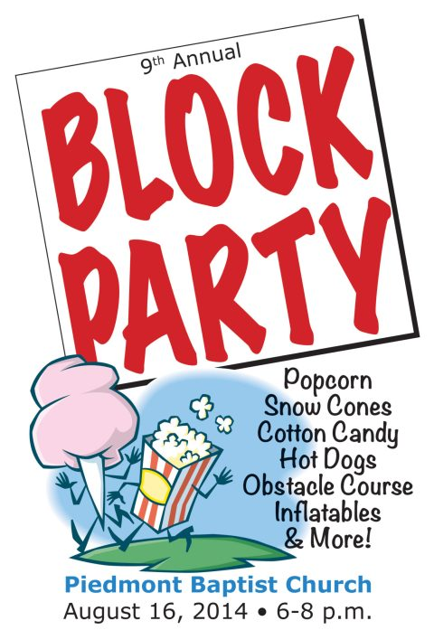 Piedmont Baptist Church Block Party 2014