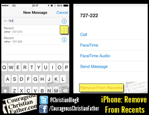 iPhone: Remove From Recents