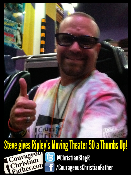 Steve gives Ripley's Moving Theater 5D a Thumbs Up!