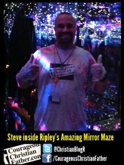 Steve inside Ripley's Amazing Mirror Maze
