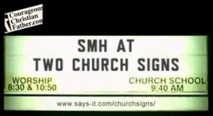 SMH at Two Church Signs