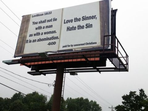 Leviticus 18:22 Billboard