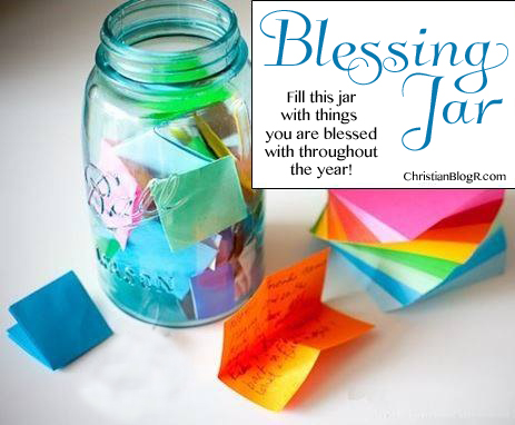 It's just an image of Blessings Jar Printable regarding post it notes