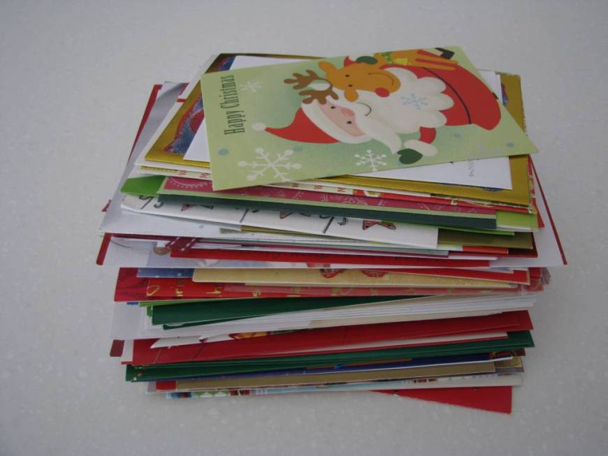 Think Green Reuse or Recycle Those Christmas Cards - Christmas Cards or other Greeting cards, we get them all the time, But don't throw them away, Think Green! Here are suggestions to reuse or recycle these Christmas Cards and Greeting Cards that you get. Recycled Christmas Cards