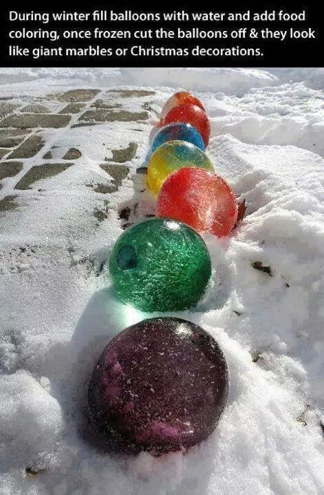 Giant Colorful Iced Marbles