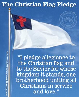 image regarding Pledge to the Bible Printable named The Christian Flag Pledge Brave Christian Dad