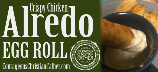 Crispy Chicken Alfredo Egg Roll