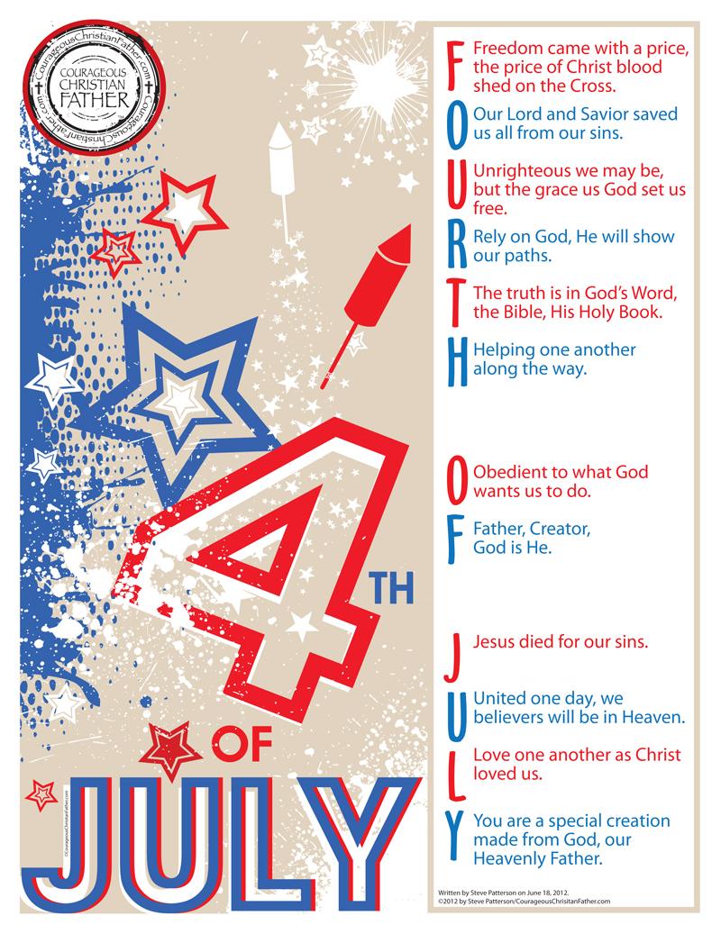 Fourth of July Poem/Acronym