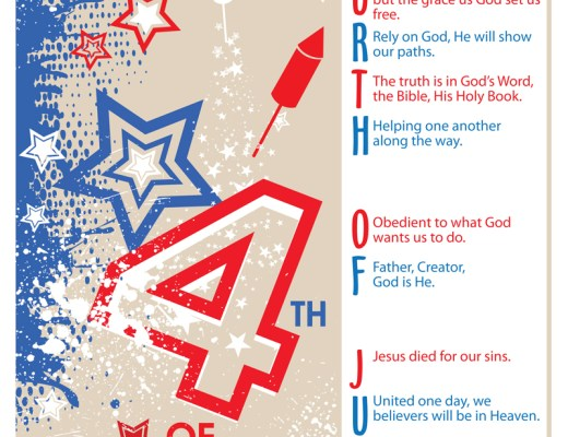 Fourth of July Acronym - Fourth of July Poem - 4th of July - Fourth of July