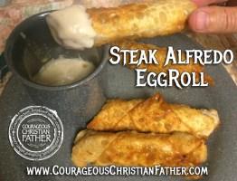 Steak Alfredo EggRoll