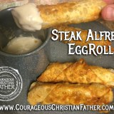 Steak Alfredo EggRoll