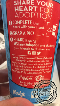 Wendy's Share Your Heart Cup