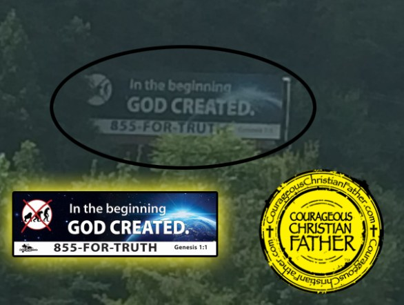 God Created Billboard in Knoxville, TN