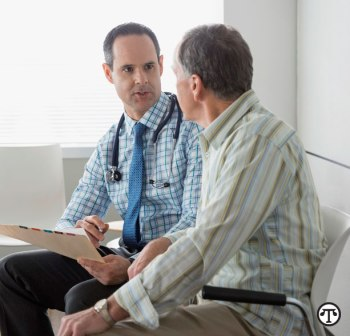 Man talks to his Doctor (NAPS Image)
