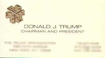 Donald Trump Business Card 2