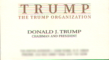 Two Donald Trump Business Cards Page 2 Of 4 Courageous Christian