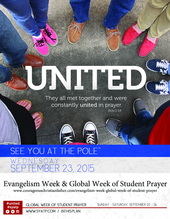 See You At the Pole - Evangelism Week - Global Week of Student Prayer image
