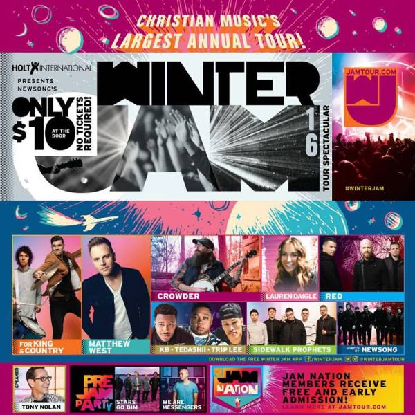Winter Jam 2016 Tour Poster